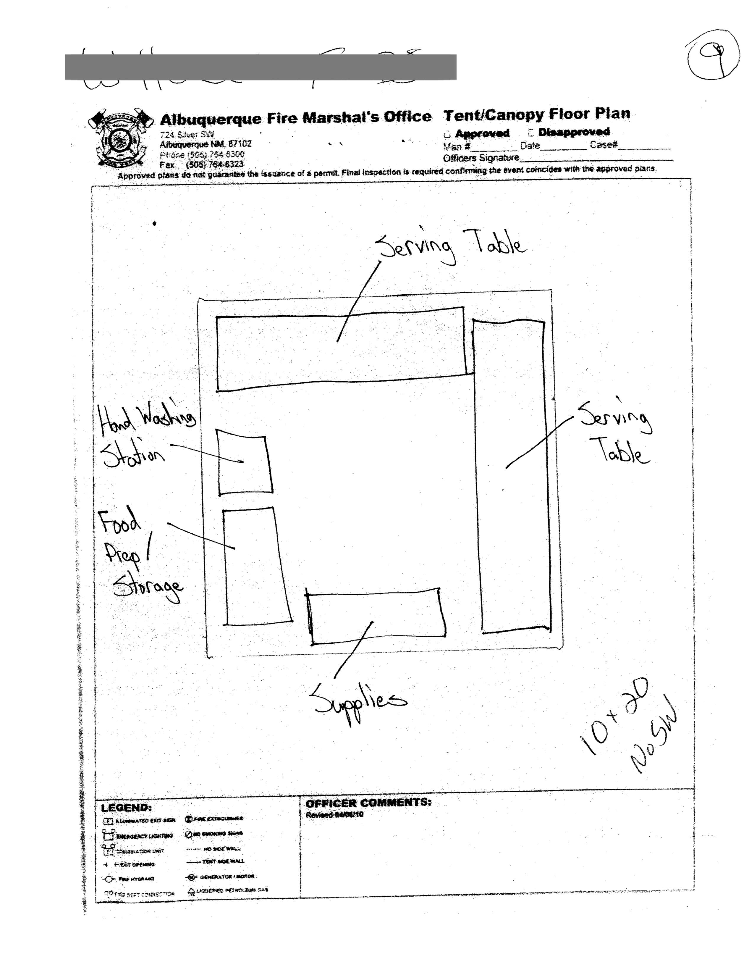 Food Tent Diagram Illustration Of Wiring Phone Booth City Albuquerque Fire Marshal Layout Form Blue River Rh Blueriverproductions Com 20 X 30